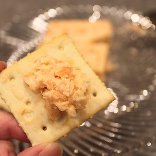 サーモンとクリームチーズのテリーヌとクラッカー3