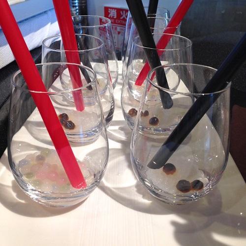 タピオカドリンクのグラス