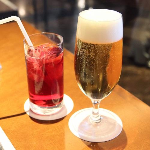 ビールとクランベリージュース