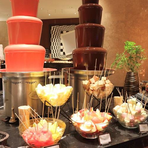 マーブルラウンジのチョコレートファウンテン