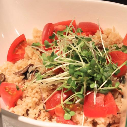 きのこと玄米のサラダ