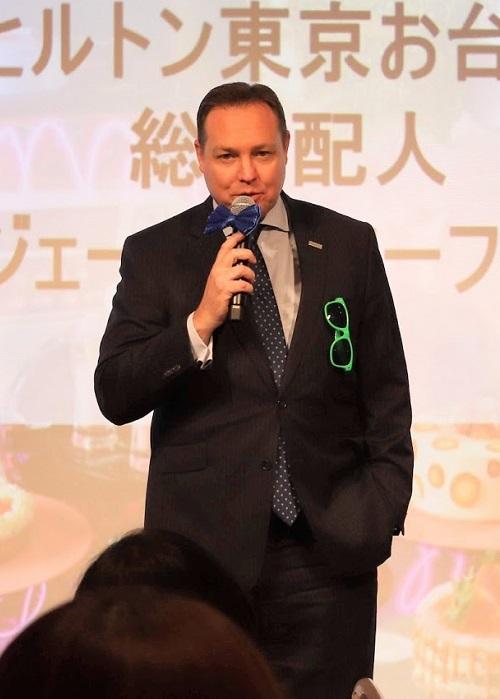 ヒルトン東京お台場の総支配人、ジェームズ・マーフィーさん