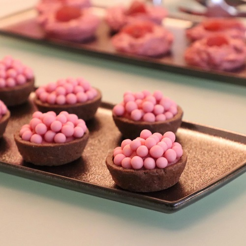 ルビーチョコレートのタルト