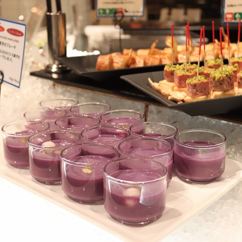 紫芋の冷製スープ