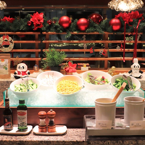 横浜ベイシェラトンのビュッフェ|コンパスのサラダコーナー