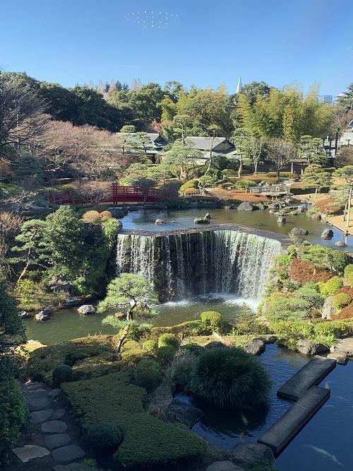 ホテルニューオータニ「ガーデンラウンジ」の日本庭園1