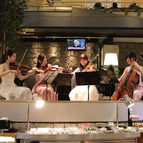 第一ホテル東京シーフォート『グランカフェ』の生演奏