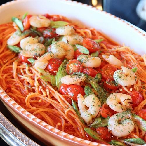 ホテルニューオータニ「ガーデンラウンジ」のスパゲッティ