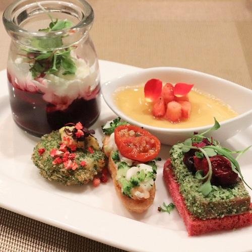 コンラッド東京『セリーズ』セイボリーの皿盛り