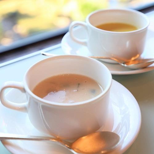 ホテルニューオータニ「ガーデンラウンジ」の豆乳スープ