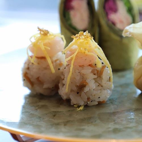 シャングリラホテル『MIYABI アフタヌーンティー』の手毬寿司