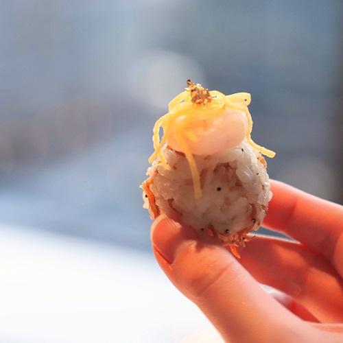 シャングリラホテル『MIYABI アフタヌーンティー』の手毬寿司2