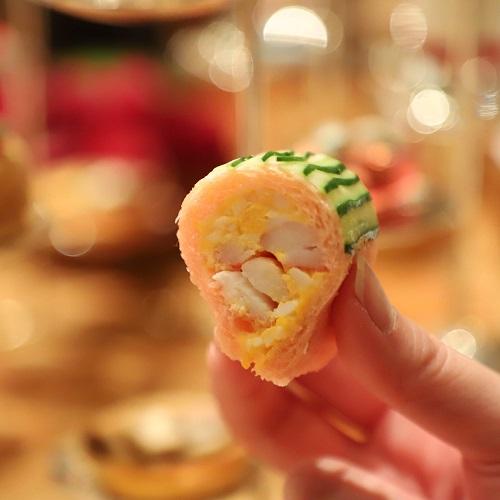 ザ・ペニンシュラホテルの『ストロベリーアフタヌーンティー』蟹のサンド