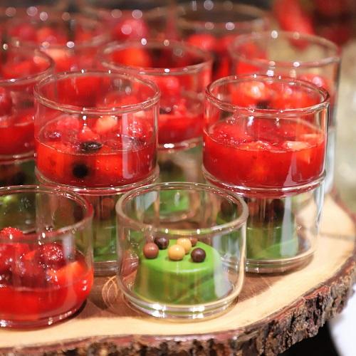 ザ・テラス(ウェスティンホテル東京)の苺のデザートビュッフェ(抹茶のフォンダン)