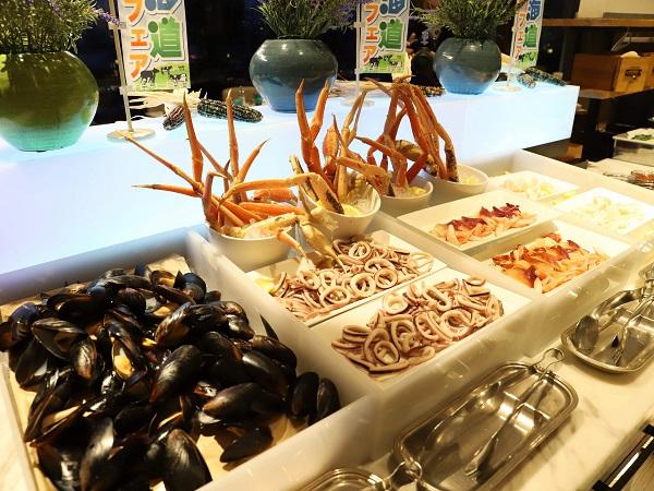 ヒルトン東京お台場のビュッフェ|海鮮コーナー