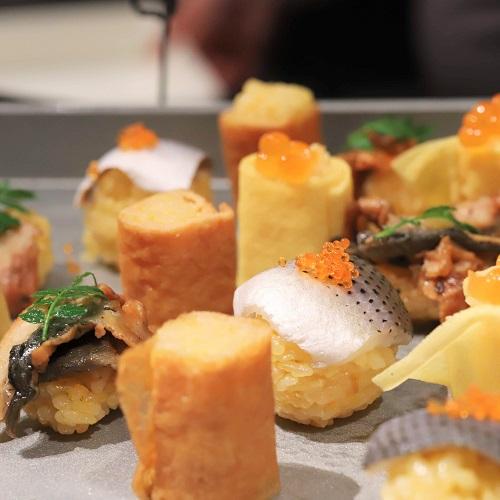 シェフズライブキッチン(インターコンチネンタル東京ベイ)みかん風味の手毬寿司