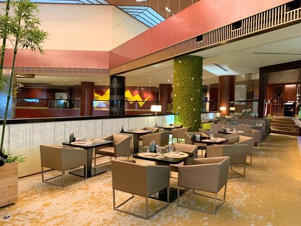 ANAインターコンチネンタルホテル東京「シャンパン・バー」の席