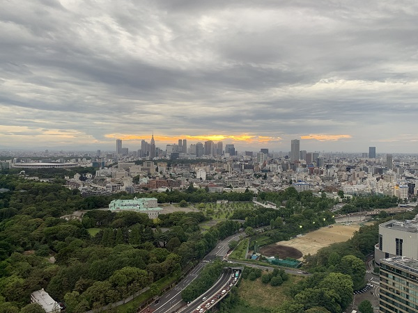 ホテルニューオータニ タワービュッフェ(景色)