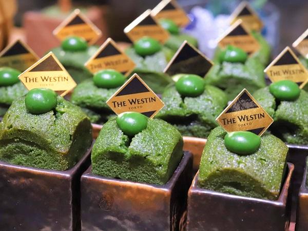 ウェスティンホテル東京『ザ・テラス』抹茶デザートビュッフェ2019(抹茶のケーキとカスタードクリーム)
