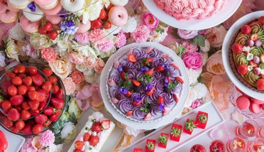 【お花の世界に囲まれて】ヒルトン大阪のデザートビュッフェ