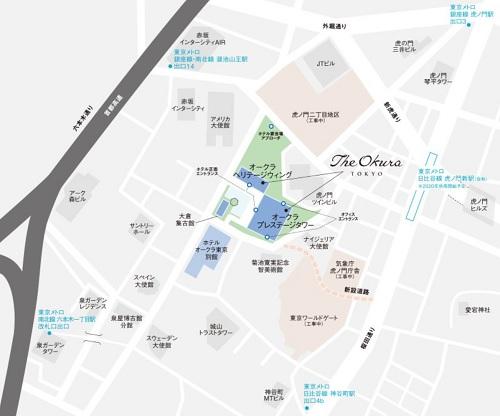 ジ・オークラ東京|マップ(ホテルオークラ東京)
