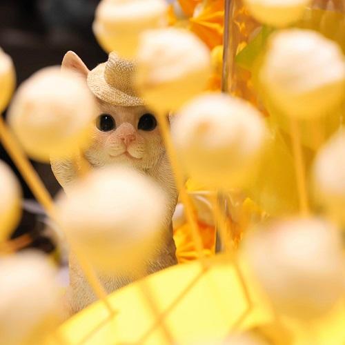 ヒルトン東京 マーブルラウンジのスイーツビュッフェ(猫2)