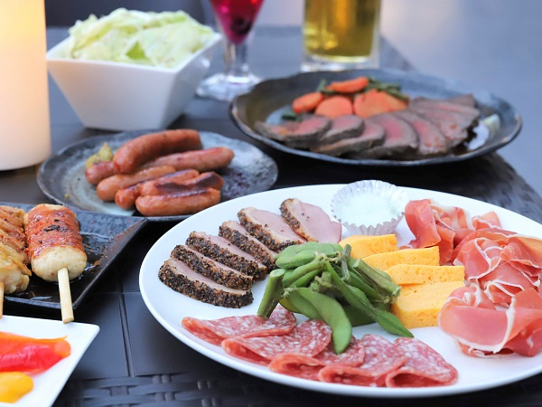 ヒルトン東京 ルーフトップテラス「天空のビアガーデン」(料理)
