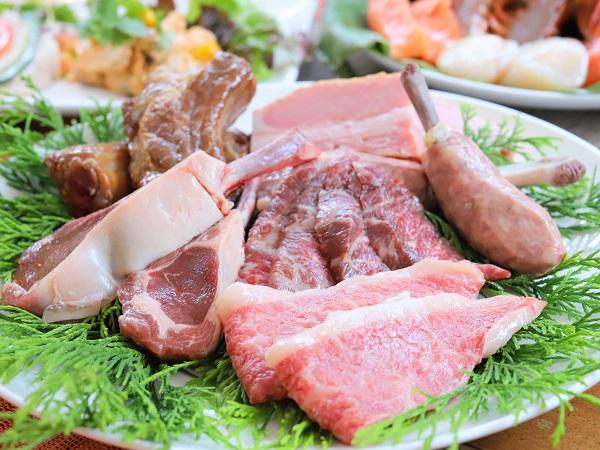 ガーデンダイニング(グランドニッコー東京 台場)のBBQ|肉の盛り合わせ
