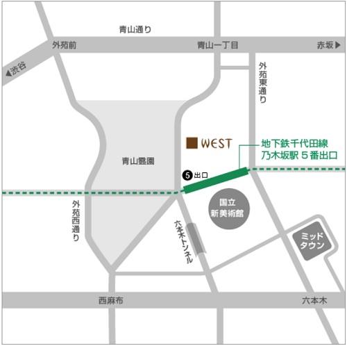 銀座ウエスト青山ガーデン アクセス
