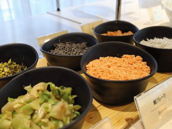 ホテルグレイスリー銀座の朝食ビュッフェ(ごはんのお供)