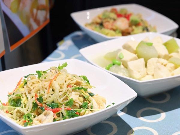 ホテルグレイスリー銀座の朝食ビュッフェ(豆腐メニュー)