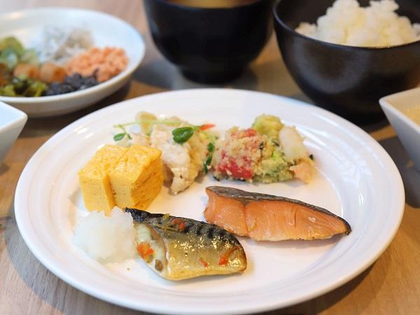 ホテルグレイスリー銀座の朝食ビュッフェ(和食メニュー)