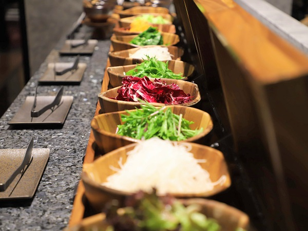 ホテル雅叙園東京のランチビュッフェ|サラダ