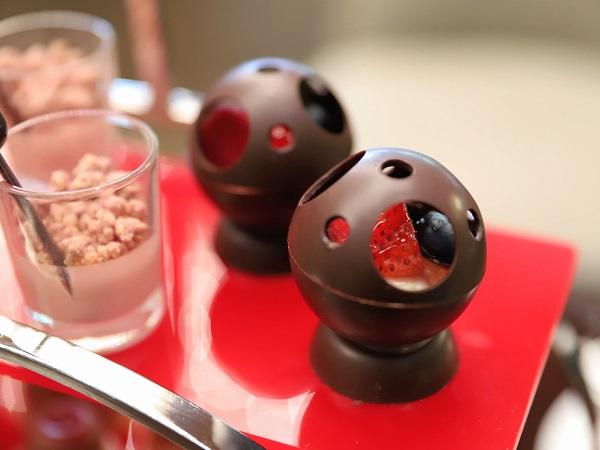 ANAインターコンチネンタルホテル東京のアフタヌーンティー(ドームチョコレート)