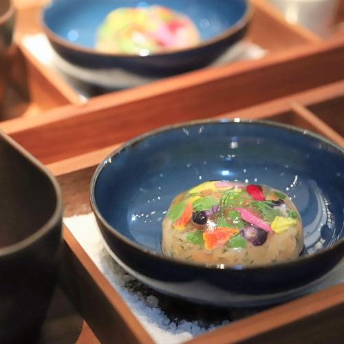 ハイアット セントリック 銀座 東京「NAMIKI667」のディナー(前菜)