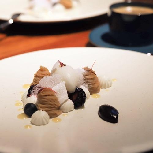 ハイアット セントリック 銀座 東京「NAMIKI667」のディナー(デザート)