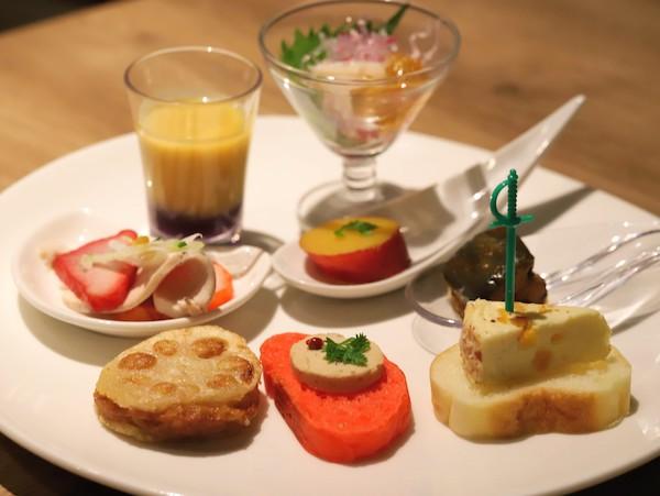 東京プリンスホテル|ポルトのブッフェ(前菜の盛り合わせ)