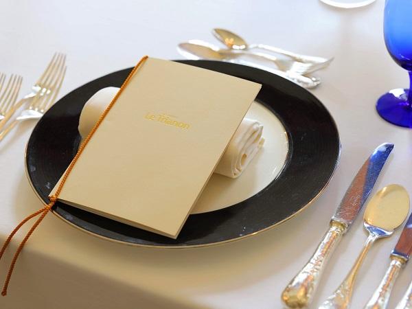 グランドプリンスホテル高輪「ル・トリアノン」テーブルメニュー
