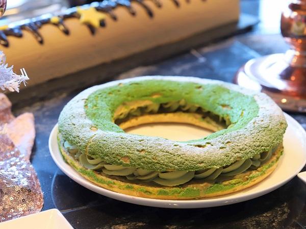 コンラッド大阪のスイーツビュッフェ(リースケーキ)