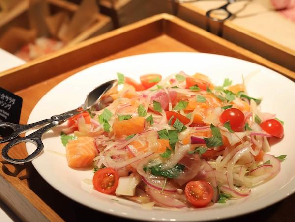 ヒルトン東京ベイのランチビュッフェ|魚介のマリネ