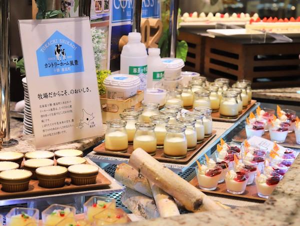横浜ベイシェラトン「コンパス」のランチブッフェ デザートコーナー