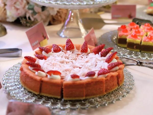 ANAインターコンチネンタルホテル東京のスイーツブッフェ|ストロベリーチーズケーキ
