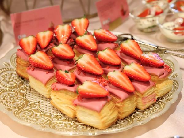 ANAインターコンチネンタルホテル東京のスイーツブッフェ|苺のデニッシュ