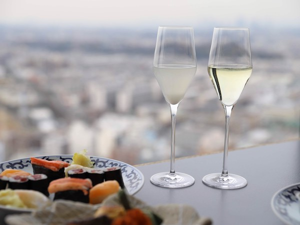 新横浜プリンスホテル「羽衣」|寿司アフタヌーンティー(アルコール)