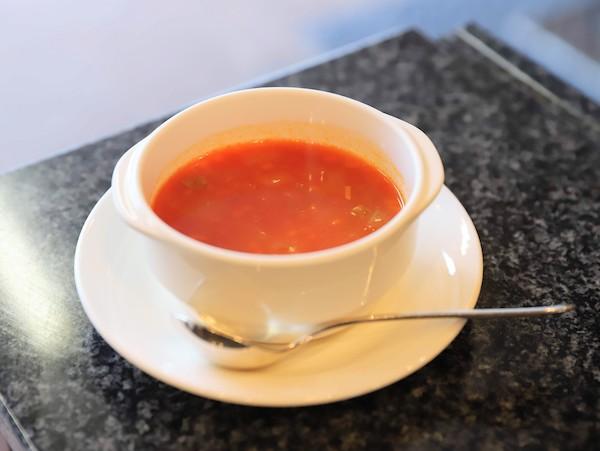 グランドプリンスホテル高輪「桂」の鉄板焼ランチ(スープ)