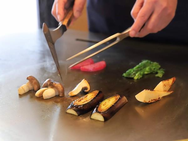 グランドプリンスホテル高輪「桂」の鉄板焼ランチ(野菜)