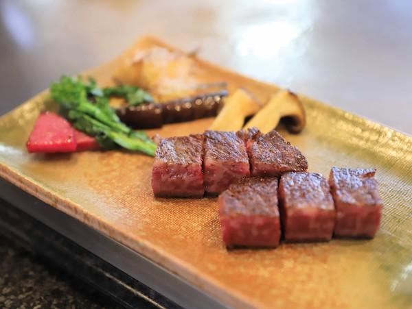 グランドプリンスホテル高輪「桂」の鉄板焼ランチ(サーロイン)