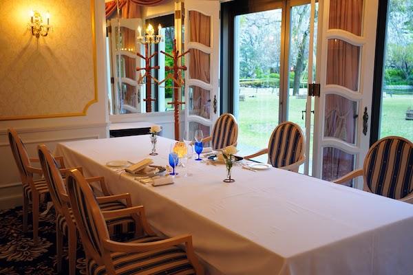 グランドプリンスホテル高輪 トリアノンのディナー|個室