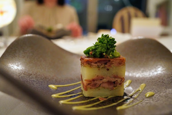 グランドプリンスホテル高輪 トリアノンのディナー|鴨料理