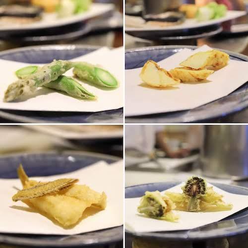 グランドプリンスホテル高輪「若竹」の天麩羅ランチ|野菜